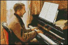 Young Man Playing a Piano 4x6